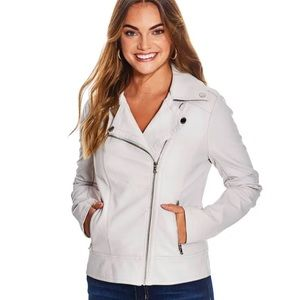 *NEW* Guess Faux Leather Stretch Moto Jacket